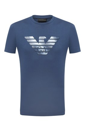 Мужская хлопковая футболка EMPORIO ARMANI синего цвета, арт. 6H1TR7/1JSHZ | Фото 1