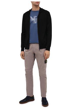 Мужская хлопковая футболка EMPORIO ARMANI синего цвета, арт. 6H1TR7/1JSHZ | Фото 2