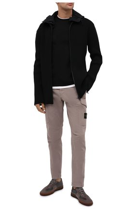 Мужская хлопковая футболка EMPORIO ARMANI черного цвета, арт. 6H1TH4/1JTUZ   Фото 2