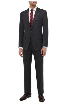 Мужской шерстяной костюм TOM FORD серого цвета, арт. Q31R11/21AA43 | Фото 1
