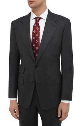 Мужской шерстяной костюм TOM FORD серого цвета, арт. Q31R11/21AA43 | Фото 2