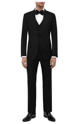 Мужской шерстяной смокинг-тройка TOM FORD черного цвета, арт. Q22R97/31AL41 | Фото 1