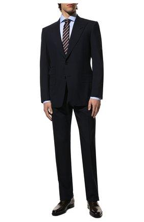 Мужской шерстяной костюм TOM FORD темно-синего цвета, арт. Q11R03/21AL43 | Фото 1