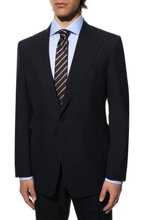 Мужской шерстяной костюм TOM FORD темно-синего цвета, арт. Q11R03/21AL43 | Фото 2