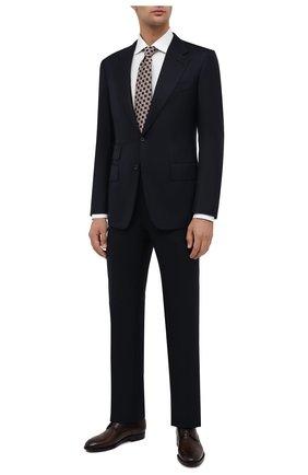 Мужской костюм из шерсти и шелка TOM FORD темно-синего цвета, арт. 832R57/21AA43 | Фото 1
