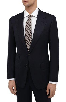 Мужской костюм из шерсти и шелка TOM FORD темно-синего цвета, арт. 832R57/21AA43 | Фото 2