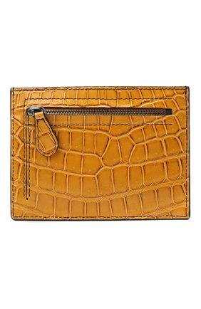 Женский футляр для кредитных карт из кожи крокодила BOTTEGA VENETA желтого цвета, арт. 537027/VI0GS/CNIL   Фото 1