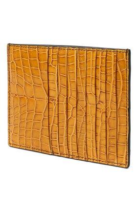 Женский футляр для кредитных карт из кожи крокодила BOTTEGA VENETA желтого цвета, арт. 537027/VI0GS/CNIL   Фото 2