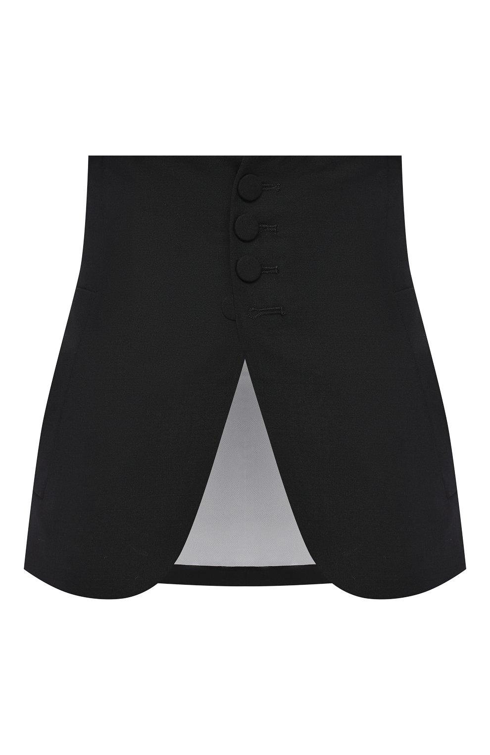 Женский шерстяной пояс DSQUARED2 черного цвета, арт. S75FB0126/S40320 | Фото 1