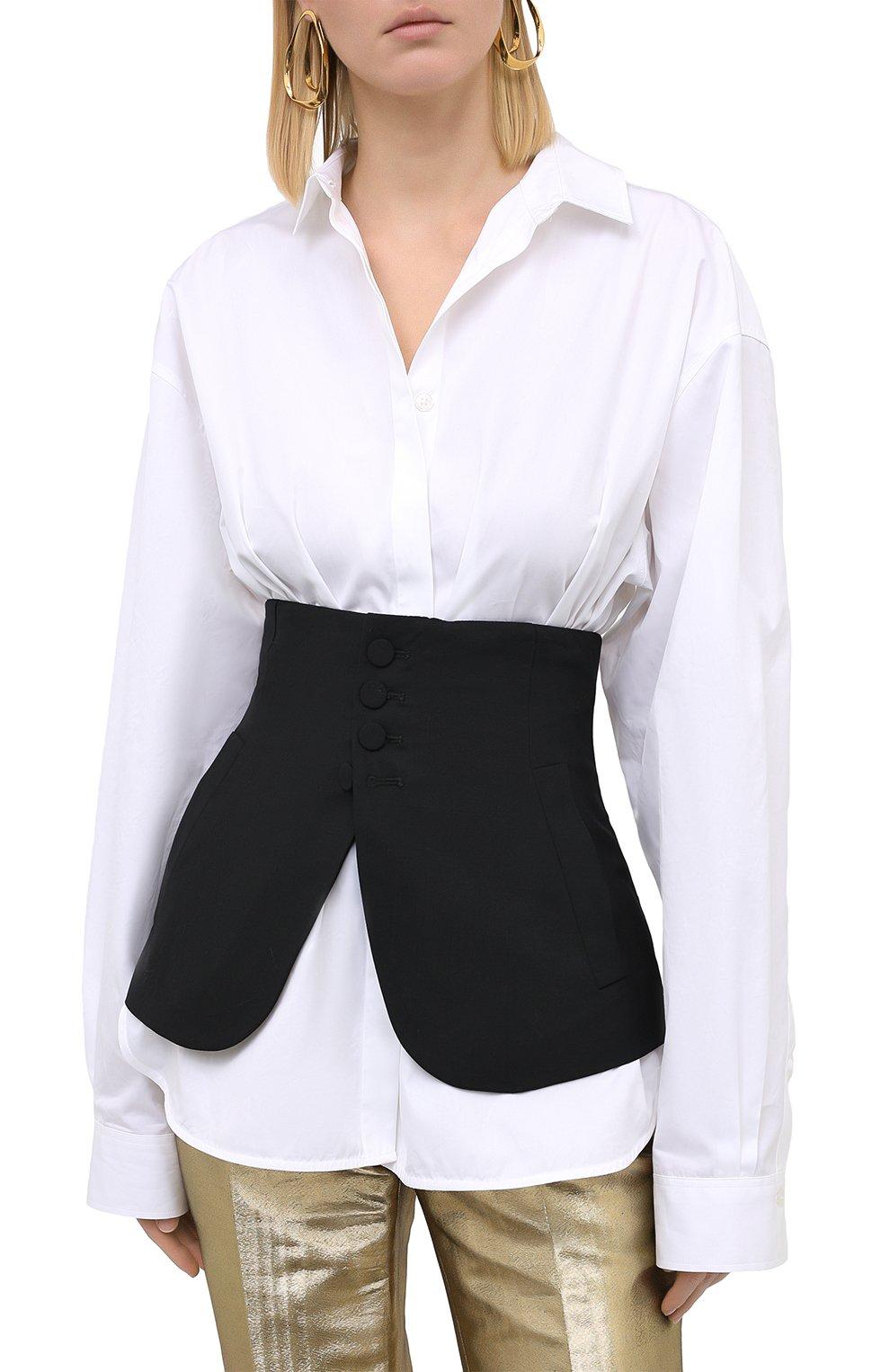 Женский шерстяной пояс DSQUARED2 черного цвета, арт. S75FB0126/S40320 | Фото 3