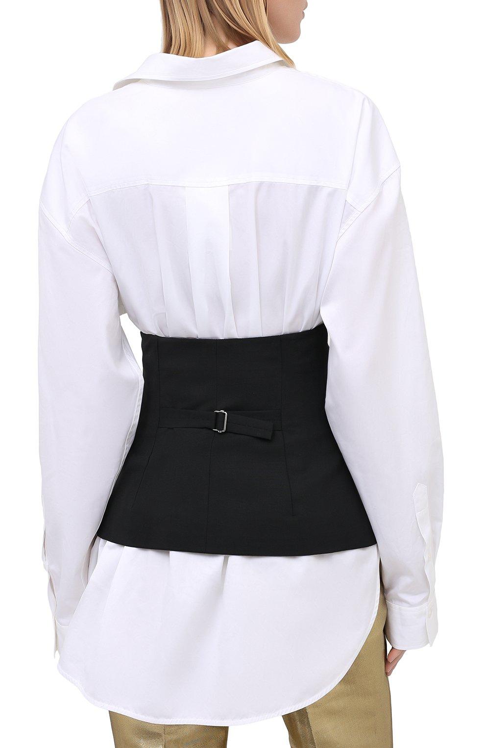 Женский шерстяной пояс DSQUARED2 черного цвета, арт. S75FB0126/S40320 | Фото 4