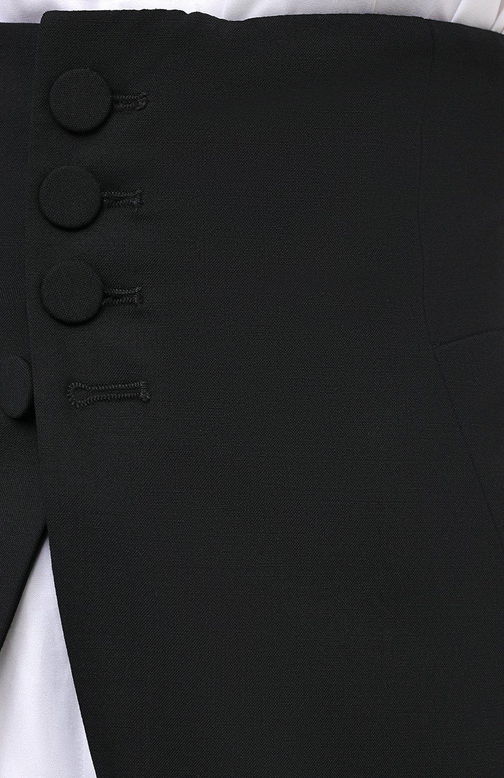 Женский шерстяной пояс DSQUARED2 черного цвета, арт. S75FB0126/S40320 | Фото 5