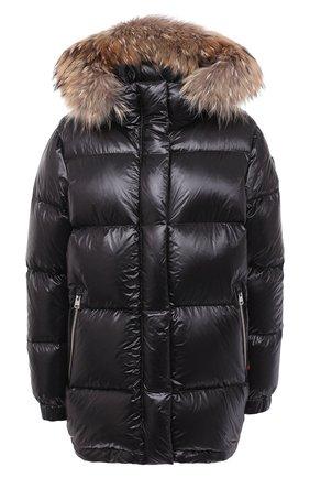 Женский пуховая куртка WOOLRICH черного цвета, арт. CFWW0U0285FR/UT1702 | Фото 1