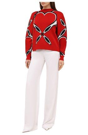 Женский пуловер из вискозы ALEXANDER MCQUEEN красного цвета, арт. 641912/Q1ARZ | Фото 2