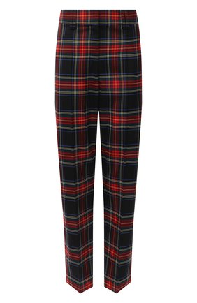 Женские шерстяные брюки BALMAIN разноцветного цвета, арт. UF15172/W085 | Фото 1