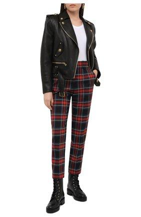 Женские шерстяные брюки BALMAIN разноцветного цвета, арт. UF15172/W085 | Фото 2
