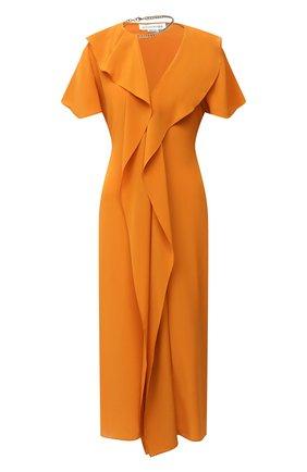 Женское шелковое платье VICTORIA BECKHAM оранжевого цвета, арт. 1320WDR001499B | Фото 1