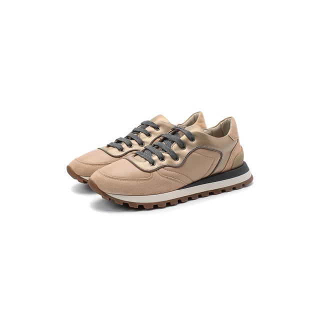 Кожаные кроссовки Brunello Cucinelli