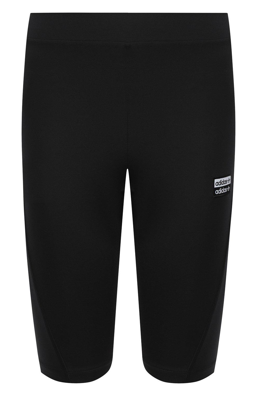 Женские шорты ADIDAS ORIGINALS черного цвета, арт. GD3882 | Фото 1 (Длина Ж (юбки, платья, шорты): Мини; Кросс-КТ: Спорт)