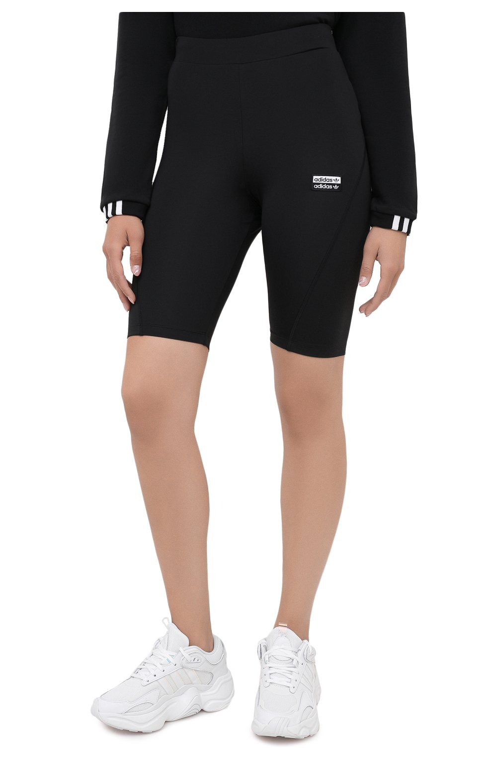 Женские шорты ADIDAS ORIGINALS черного цвета, арт. GD3882 | Фото 3 (Длина Ж (юбки, платья, шорты): Мини; Кросс-КТ: Спорт)