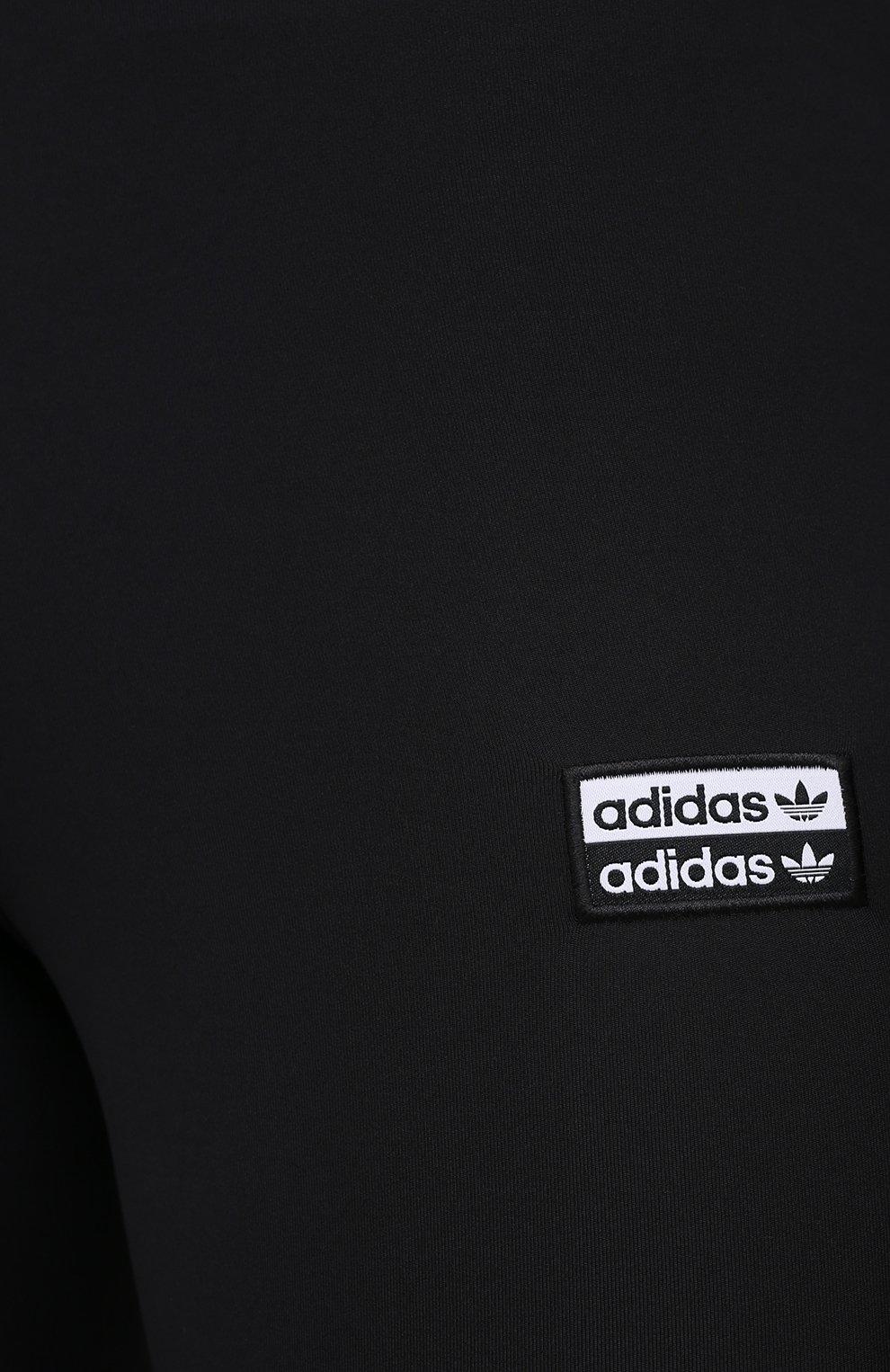 Женские шорты ADIDAS ORIGINALS черного цвета, арт. GD3882 | Фото 5 (Длина Ж (юбки, платья, шорты): Мини; Кросс-КТ: Спорт)