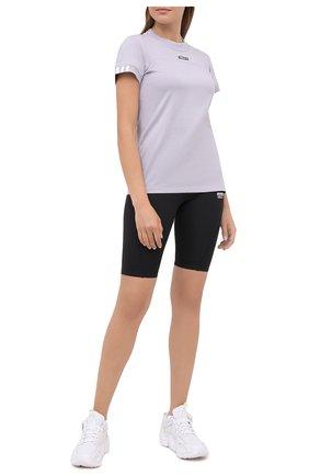 Женская хлопковая футболка ADIDAS ORIGINALS сиреневого цвета, арт. GD3805 | Фото 2