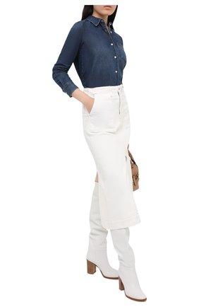 Женская джинсовая рубашка AG синего цвета, арт. CDM70880/NUCS   Фото 2