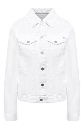 Женская джинсовая куртка AG белого цвета, арт. DSD4179/RWHT | Фото 1