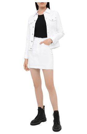 Женская джинсовая куртка AG белого цвета, арт. DSD4179/RWHT | Фото 2