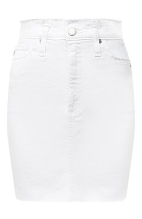 Женская джинсовая юбка AG белого цвета, арт. DSD5535RA/RWHT | Фото 1