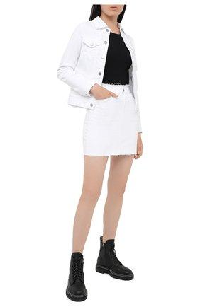 Женская джинсовая юбка AG белого цвета, арт. DSD5535RA/RWHT | Фото 2