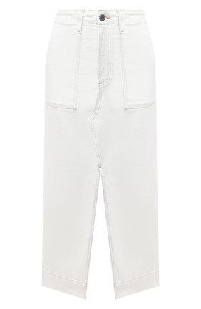 Женская джинсовая юбка AG белого цвета, арт. DSD5550/MWHT | Фото 1