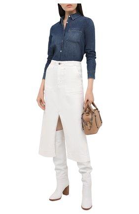 Женская джинсовая юбка AG белого цвета, арт. DSD5550/MWHT | Фото 2