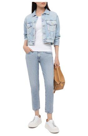 Женские джинсы AG голубого цвета, арт. HRD1575/96ERA   Фото 2