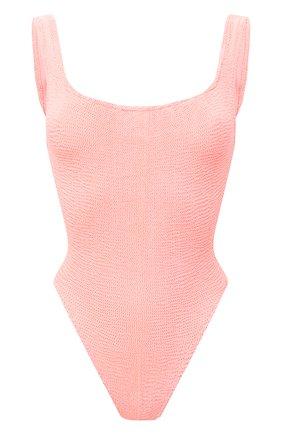 Женский слитный купальник HUNZA G светло-розового цвета, арт. SQ NECK SWIM | Фото 1