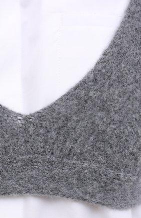Женский шерстяной топ DOROTHEE SCHUMACHER серого цвета, арт. 914102/MAXIMAL S0FTNESS | Фото 5