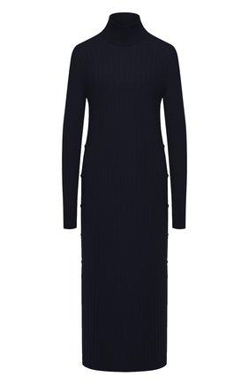 Женское кашемировое платье LORO PIANA темно-синего цвета, арт. FAL2569 | Фото 1