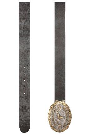 Женский кожаный ремень RALPH LAUREN коричневого цвета, арт. 408728245   Фото 2 (Материал: Кожа)