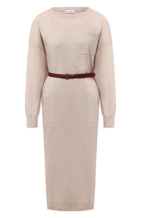 Женское кашемировое платье BRUNELLO CUCINELLI бежевого цвета, арт. M2E811A90P | Фото 1