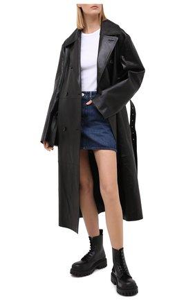 Женская джинсовая юбка BALENCIAGA синего цвета, арт. 626000/TDW14 | Фото 2