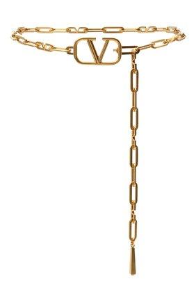 Женский ремень valentino garavani VALENTINO золотого цвета, арт. UW2T0S70/LEI   Фото 1