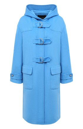 Женское шерстяное пальто ERMANNO ERMANNO SCERVINO голубого цвета, арт. 47T CP03 VIN | Фото 1