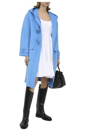 Женское шерстяное пальто ERMANNO ERMANNO SCERVINO голубого цвета, арт. 47T CP03 VIN | Фото 2