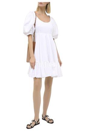 Женские текстильные сандалии bianca DOLCE & GABBANA черного цвета, арт. CQ0422/AW028 | Фото 2