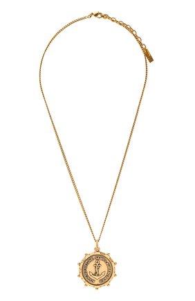 Женская кулон на цепочке SAINT LAURENT золотого цвета, арт. 636004/Y1500   Фото 1 (Материал: Металл)
