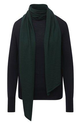 Женский шерстяной пуловер VICTORIA BECKHAM темно-синего цвета, арт. 1320KJU001510A | Фото 1