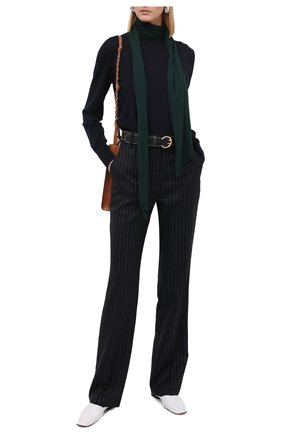 Женский шерстяной пуловер VICTORIA BECKHAM темно-синего цвета, арт. 1320KJU001510A | Фото 2