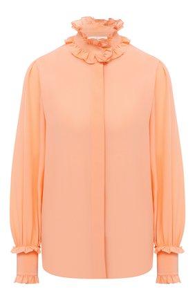 Женская шелковая блузка VICTORIA BECKHAM оранжевого цвета, арт. 1320WSH001532B | Фото 1