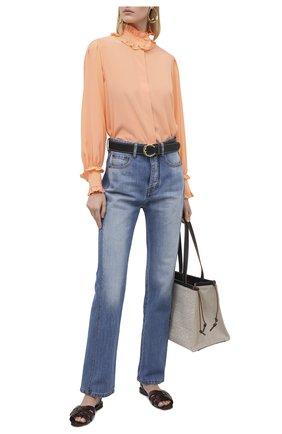 Женская шелковая блузка VICTORIA BECKHAM оранжевого цвета, арт. 1320WSH001532B | Фото 2