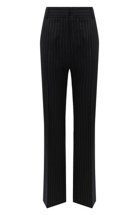 Женские шерстяные брюки VICTORIA BECKHAM темно-синего цвета, арт. 1320WTR001467C | Фото 1